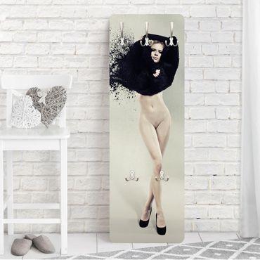 Garderobe - Liquid Striptease - Weiß Schwarz