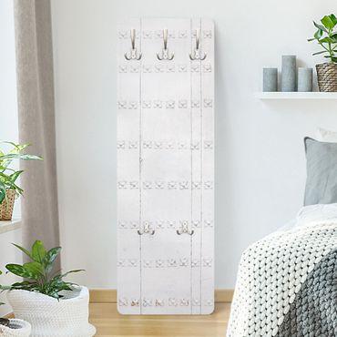 Garderobe - Mediterrane weiße Holztür