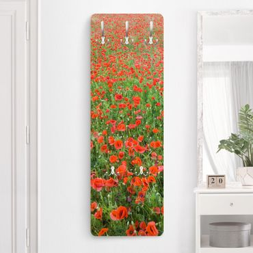 Garderobe - Mohnblumenfeld