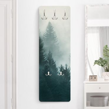 Garderobe - Nadelwald im Nebel