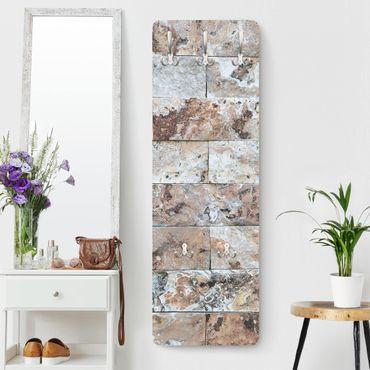 Garderobe - Naturmarmor Steinwand
