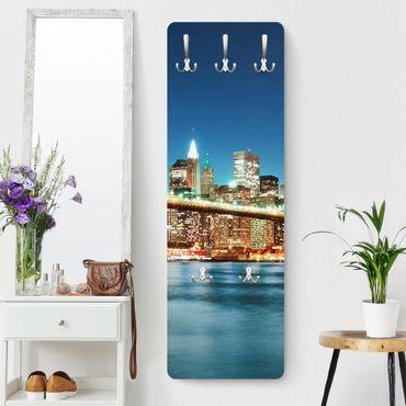 Garderobe New York - Nighttime Manhattan Bridge - Blau