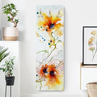 Garderobe Orange - Painted Flowers - Landhausstil