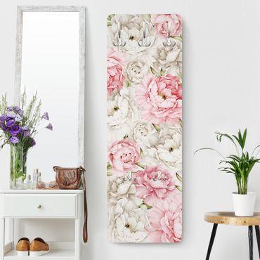 Garderobe - Pfingstrosen Rosé Weiß