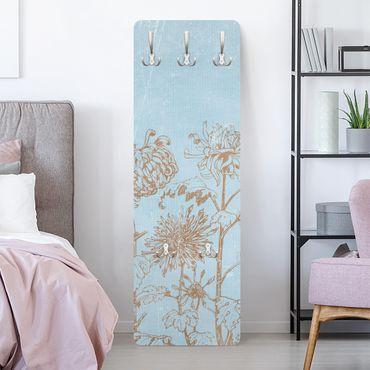 Garderobe - Radierung in Blau - Landhaus