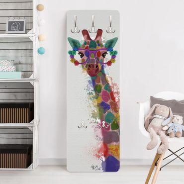 Garderobe - Regenbogen Splash Giraffe