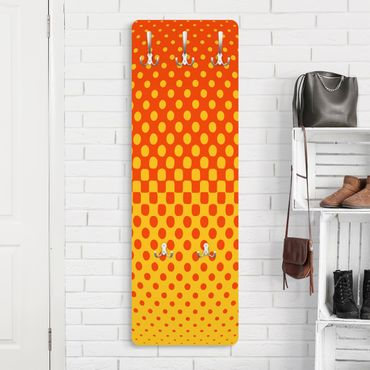 Garderobe - Retro Disco Kugel - Orange Gelb