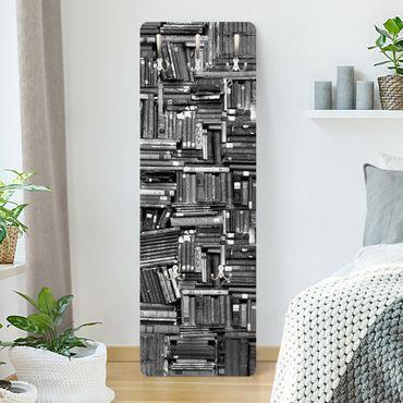 Garderobe - Shabby Bücherwand schwarz weiß