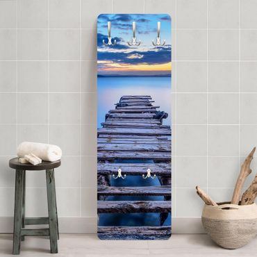 Garderobe - Steg ins ruhige Meer
