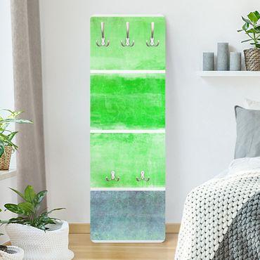Garderobe Streifenmuster - Colour Harmony Green - Grün