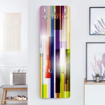 Garderobe Streifenmuster - Rainbow Cubes