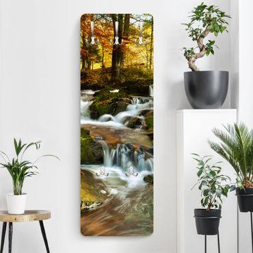 Garderobe - Wasserfall herbstlicher Wald
