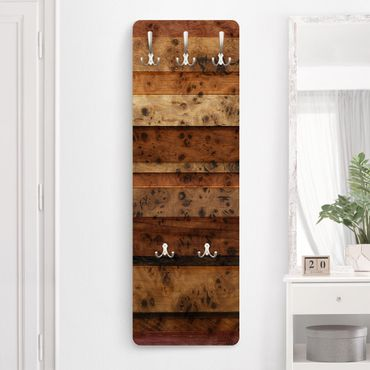 Garderobe - Woody Birdseye - Holz Optik Rustikal Landhaus