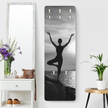 Garderobe - Yoga schwarz weiss