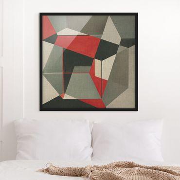 Bild mit Rahmen - Geometrischer Fuchs - Quadrat