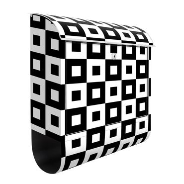 Briefkasten - Geometrisches Muster aus Schwarz Weißen Quadraten