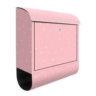 Briefkasten - Gezeichnete kleine Punkte auf Pastellrosa