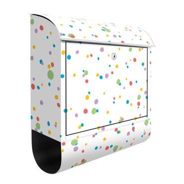 Briefkasten - Gezeichnete kleine Punkte Kunterbunt