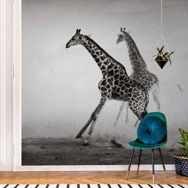 Metallic Tapete  - Giraffenjagd