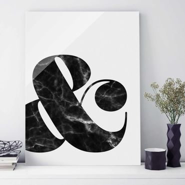 Glasbild - Ampersand Marmor - Hochformat 4:3