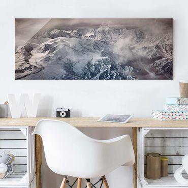 Glasbild - Berge von Tibet - Panorama