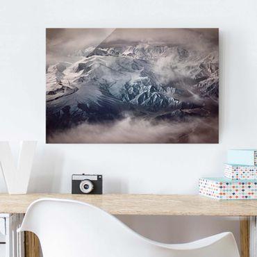 Glasbild - Berge von Tibet - Querformat 2:3