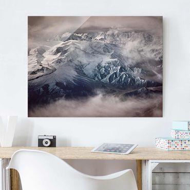 Glasbild - Berge von Tibet - Querformat 3:4