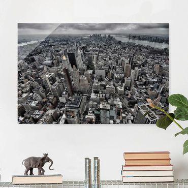 Glasbild - Blick über Manhattan - Querformat 2:3