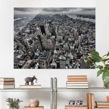 Glasbild - Blick über Manhattan - Querformat 3:4