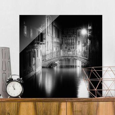 Glasbild - Brücke Venedig - Quadrat 1:1