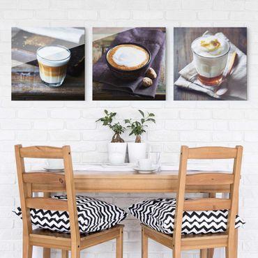 Glasbild - Caffè Latte 3-teilig