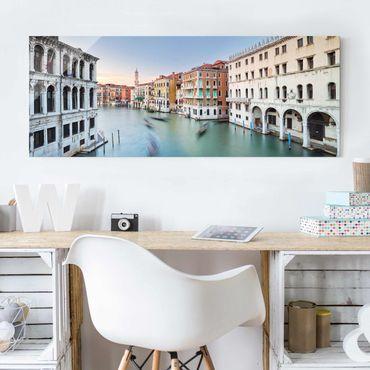 Glasbild - Canale Grande Blick von der Rialtobrücke Venedig - Panorama