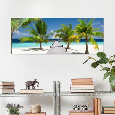 Glasbild - Catwalk to Paradise - Panorama Quer