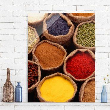 Glasbild - Colourful Spices - Hoch 3:4