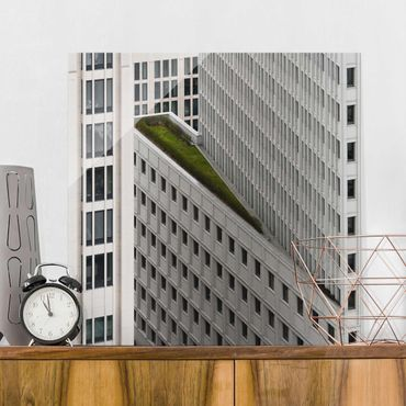 Glasbild - Das grüne Element - Quadrat 1:1