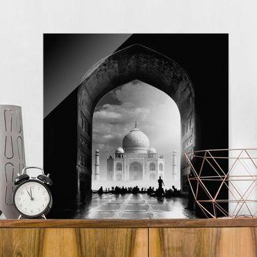 Glasbild - Das Tor zum Taj Mahal - Quadrat 1:1