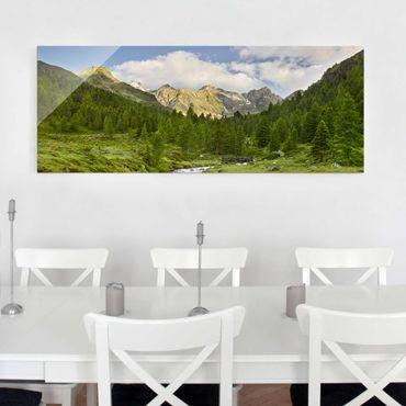 Glasbild - Debanttal Nationalpark Hohe Tauern - Panorama