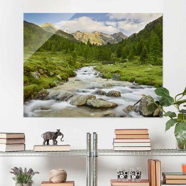Glasbild - Debanttal Nationalpark Hohe Tauern - Querformat 3:4