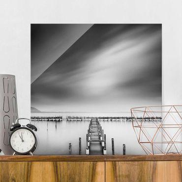 Glasbild - Der alte Pier - Quadrat 1:1