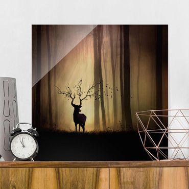 Glasbild - Der Herr des Waldes - Quadrat 1:1