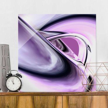 Glasbild Modern - Drifting - Quadrat 1:1