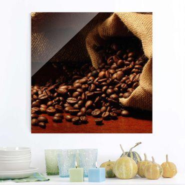 Glasbild Küche - Dulcet Coffee - Quadrat 1:1