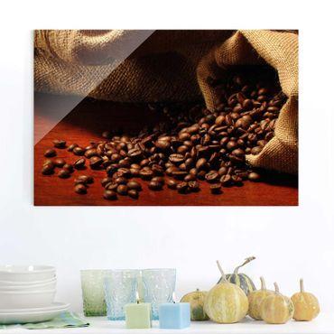 Glasbild Küche - Dulcet Coffee - Kaffee Bild Quer 3:2