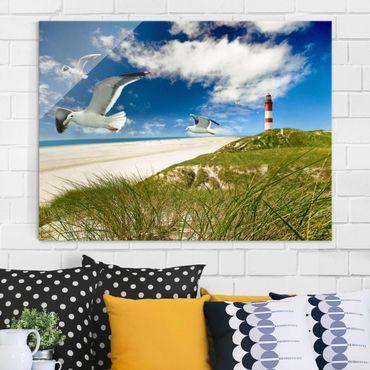 Glasbild Strand - Dune Breeze - Strandbild Quer 4:3