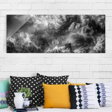 Glasbild - Ein Sturm zieht auf - Panorama