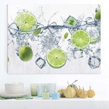 Glasbild - Erfrischende Limette - Quer 4:3