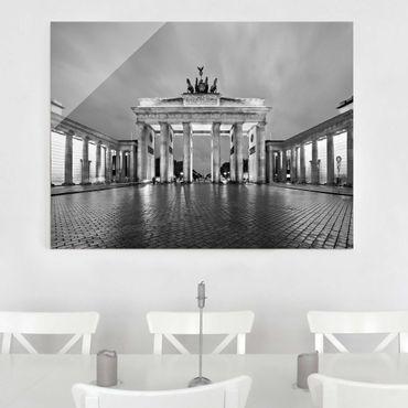 Glasbild Berlin - Erleuchtetes Brandenburger Tor II - Quer 4:3
