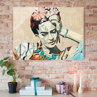 Glasbild - Frida Kahlo - Collage No.1 - Querformat 4:3