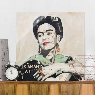 Glasbild - Frida Kahlo - Collage No.4 - Quadrat 1:1