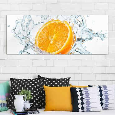 Glasbild - Frische Orange - Panorama Quer